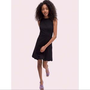 New Kate Spade Scallop Back Ponte Dress, Black, XL